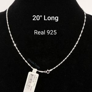 Jewelry - Real Sterling Silver Necklace Chains Wholesale Lot